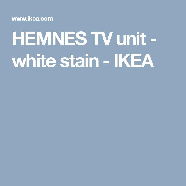 Hemnes Tv Unit White Stain : HEMNES TV unit  white stain  IKEA