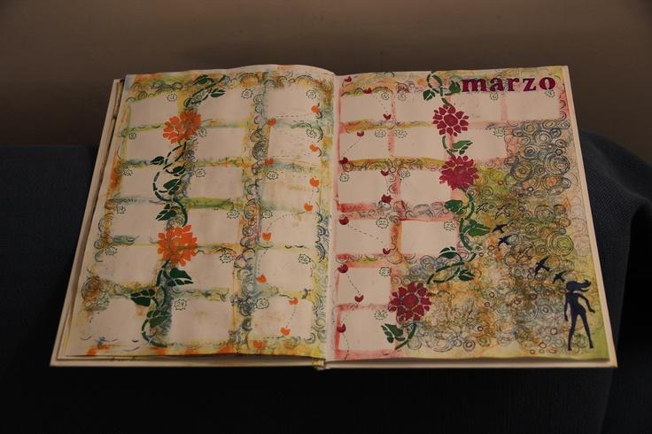 Calendar Art Journal : Art journal calendar creatività di casa pinterest
