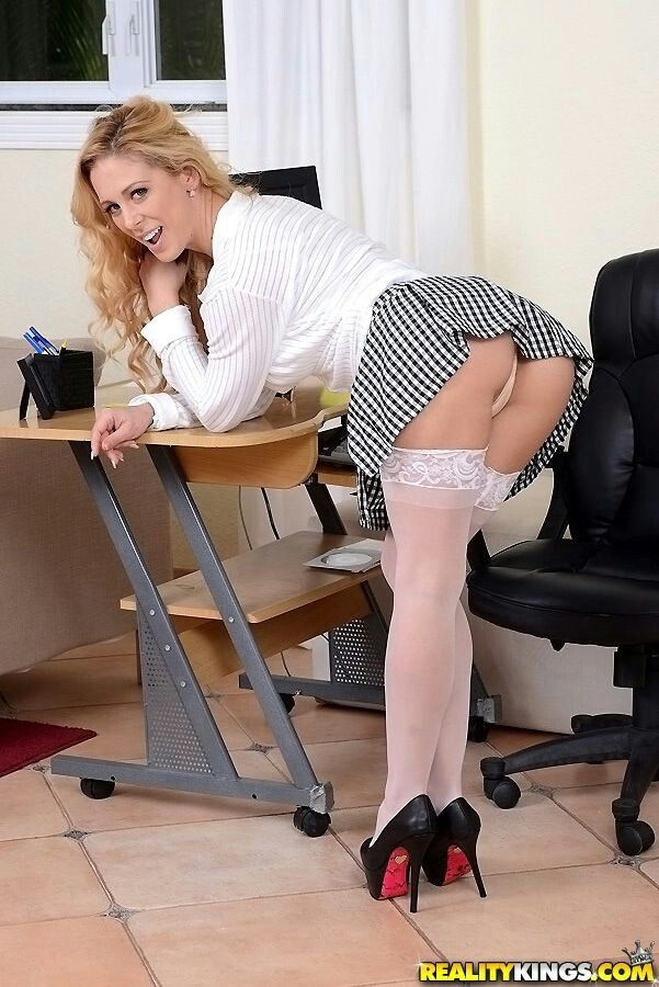 Blonde accountant with hot body fucks 14 inch black cock 10