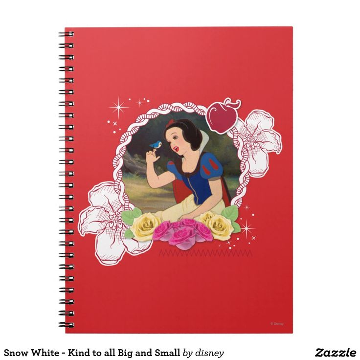 Snow White - Kind to all Big and Small. Regalos, Gifts. #notebook #cuaderno