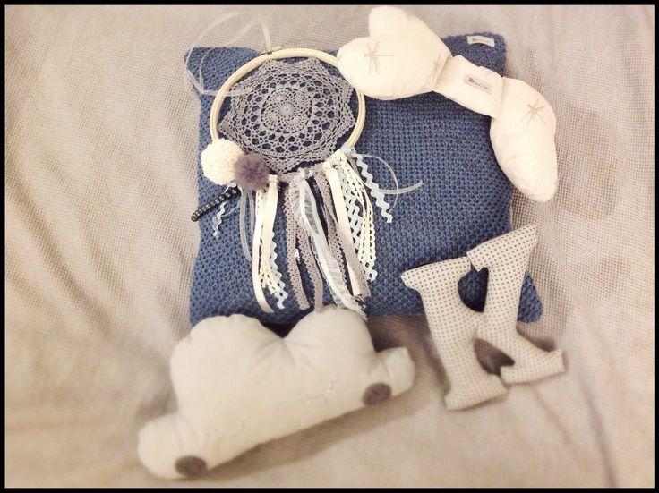 Zestawik #NEWborn dla Kubusia który za miesiąc pojawi się na świecie.  #siwczakhome #dreamcatcher #pillow #cotton #cloud