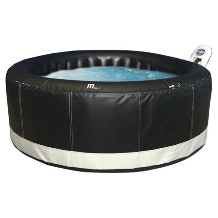 found it at wayfair 4 person inflatable spa in black portable spahot tubsfuture - Wayfair Hot Tub