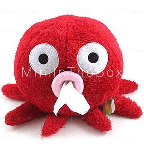 [EUR € 5.97]  - belle conception rouge tissu poulpe boîte porte-papier