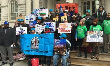 NYC Homeless Call For Better, Permanent Low-Income Housing