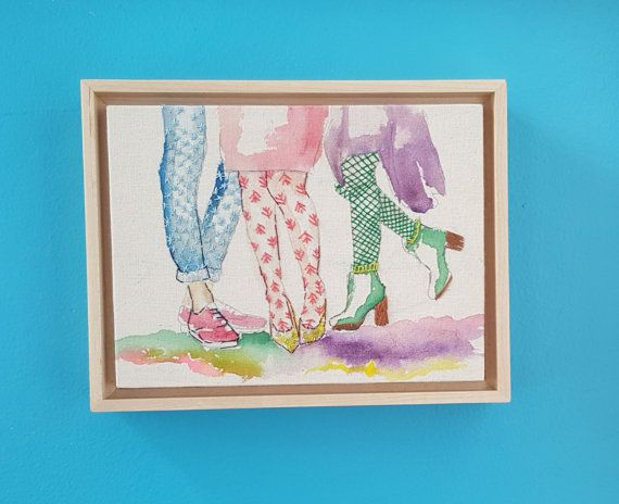 Moderne borduurwerk mode kunst aan de muur van ErrantHart op Etsy