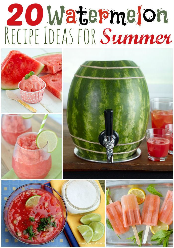 The weather is heating up, and you are going to need these 20 Watermelon Recipes and Ideas this summer!