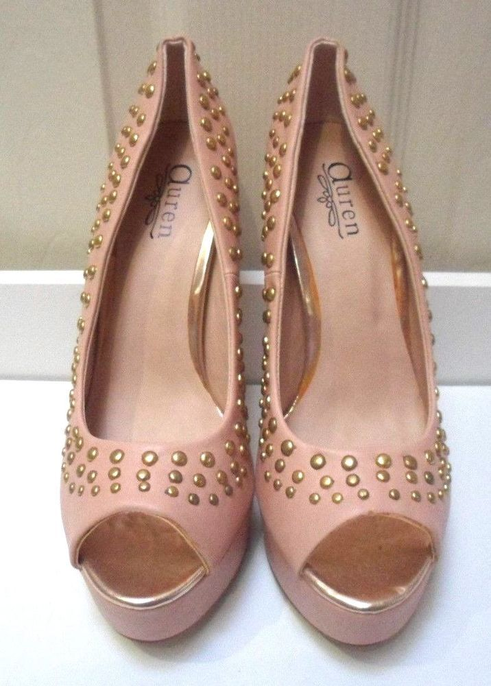 Womens Ladies Rose Pink Faux Leather High Heel Peep Toe Shoes Size 5,6,7,8  New #shoes #pink #peeptoes #highheel #highheels #platform #studded  #fauxleather ...