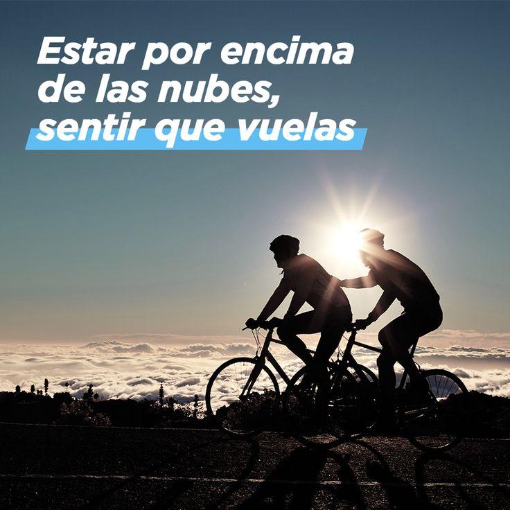 La sensación de libertad cuando estás pedaleando a mucha altura. #decathlon #ciclismo #bicicleta #montaña #deporte