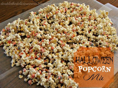 Double the Deliciousness: Halloween Popcorn Mix (Monster Munch)