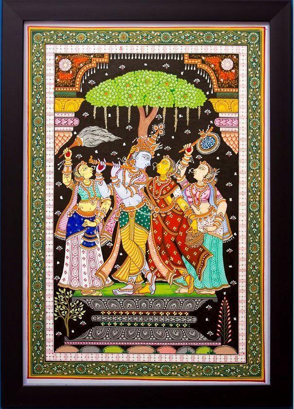 Picture of Krishna Leela - Odisha Pattachitra