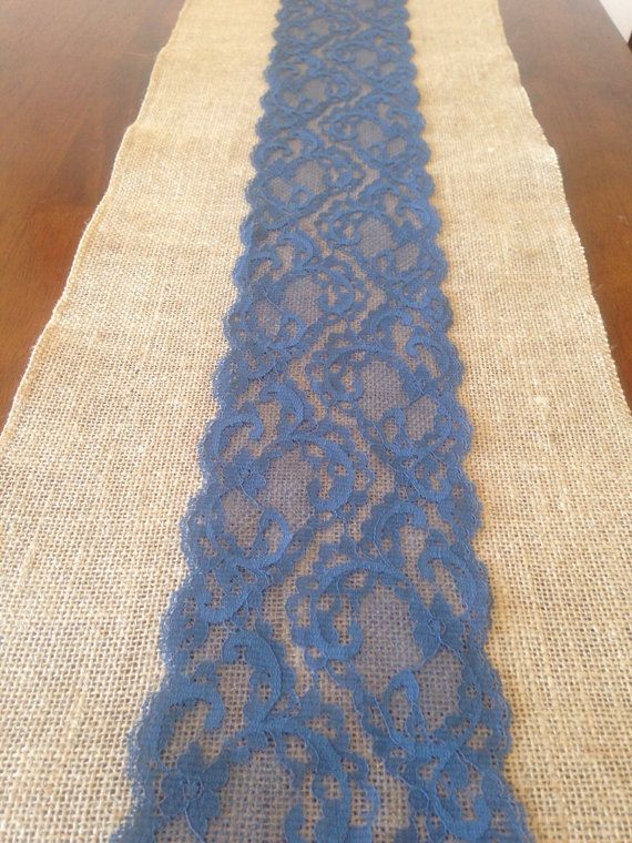 Love This Except Navy Blue Lace!! Great Idea Jen! Table Runner Navy Blue