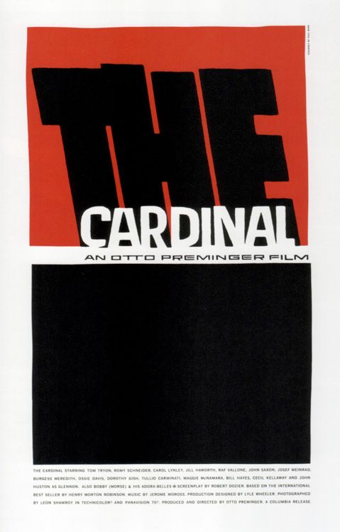 """The Cardinal"" (Otto Preminger, 1963)"