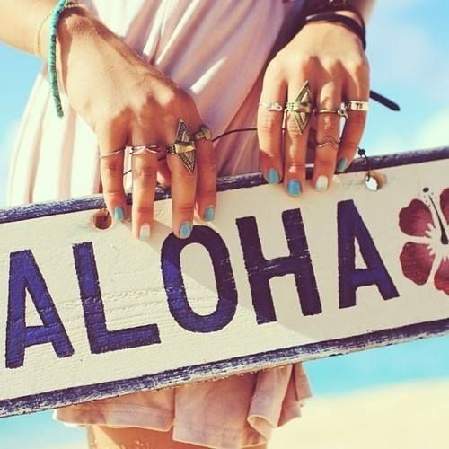 """Aloha in the Hawaiian language means affection, peace, compassion and mercy. Since the middle of the 19th century, it also has come to be used as an English greeting to say goodbye and hello. """"Aloha"""" is also included in the state nickname of Hawaii, the """"Aloha State""""."""