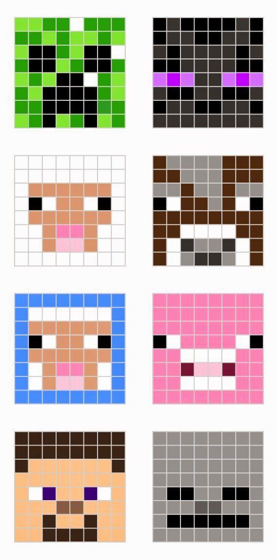 ARTESANATO COM QUIANE - Paps,Moldes,E.V.A,Feltro,Costuras,Fofuchas 3D: Moldes de todos os personagens do Minecraft - 42 moldes
