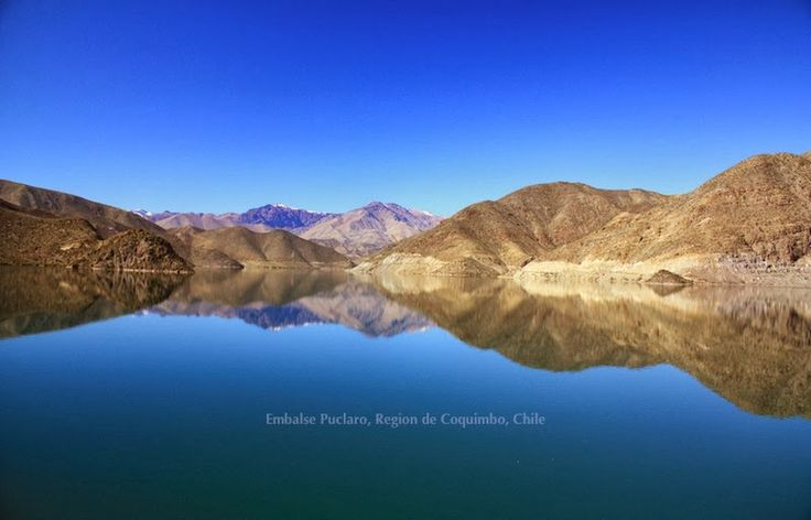 """""""Blue mirror""""in the Elqui river valley in north-central Chile - fotoeins.com"""