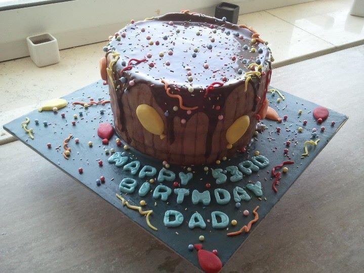 Melted Chocolate Barrel Cake