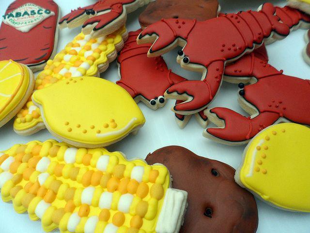 Crawfish Boil Cookies by Vicki's Sweets, via Flickr