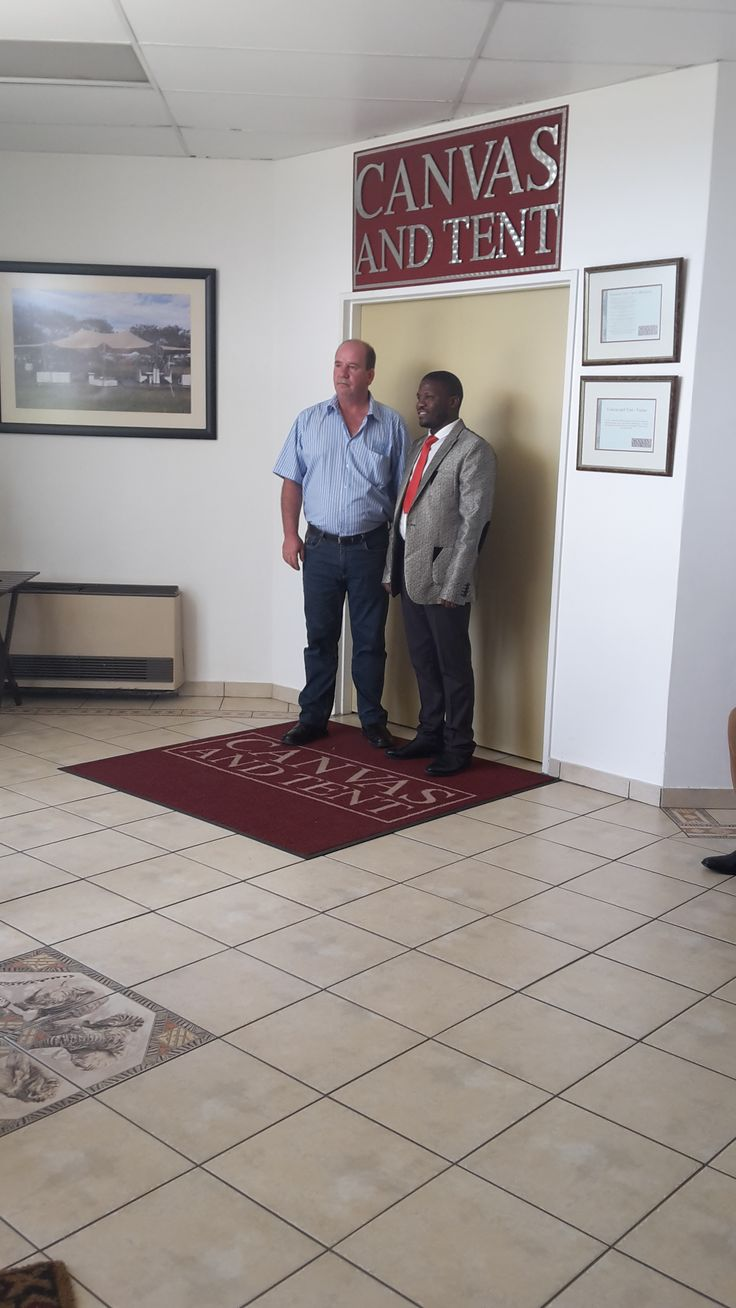 Our G.M with the representative for the Ladysmith Mayor