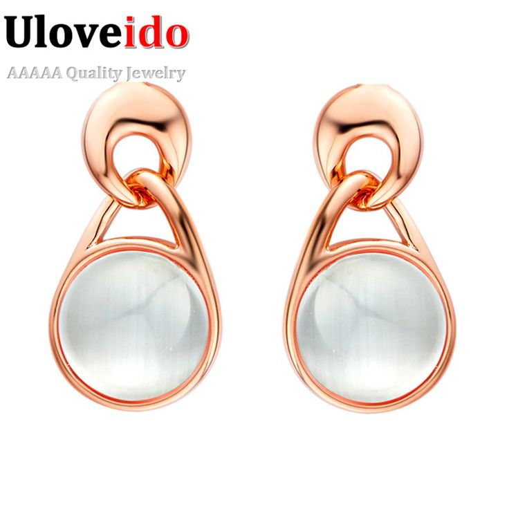 Find More Stud Earrings Information about Free Shipping New 2015 Cat Eye Stone Rose Gold/Platinum Plated Stud Earrings for Women Russian Independence Day Gift R514,High Quality earrings purple,China earrings non pierced ears Suppliers, Cheap earrings emerald from ULOVE Fashion Jewelry on Aliexpress.com