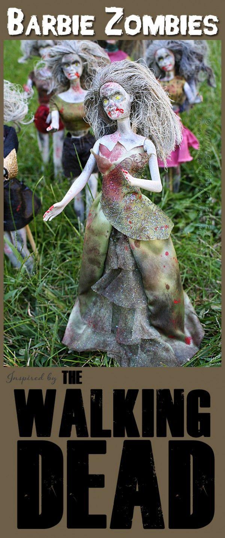 Walking Dead Barbie Zombies for Halloween                                                                                                                                                     More