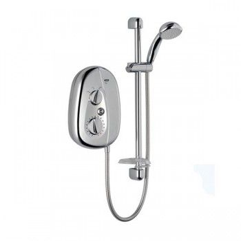 The Mira Vie Chrome Electric Shower combines great performance with contemporary styling.