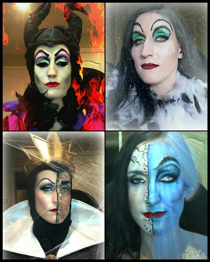 Interpretation of Disney villains by Victoria Barrett Makeup Artistry