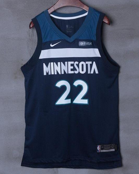 Men 22 Andrew Wiggins Jersey Black Minnesota Timberwolves Jersey Player f65b148a1