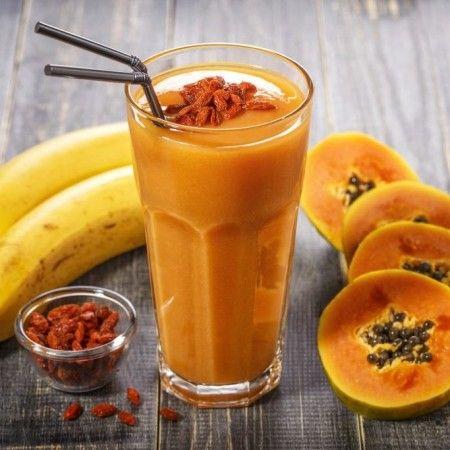 Estratto di melone, carota e frutto della passione