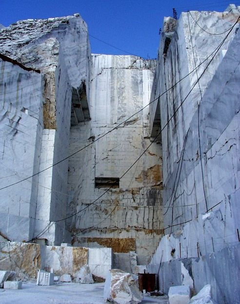 \\ marble quarry in Carrera, Italy