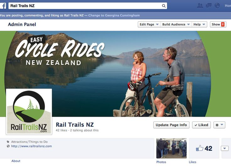Rail Trails NZ brand graphics for Facebook