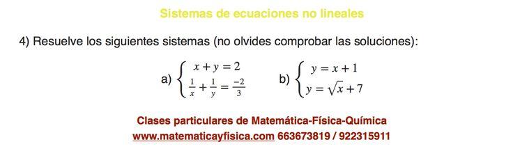 Ejercicio de sistemas de ecuaciones no lineales