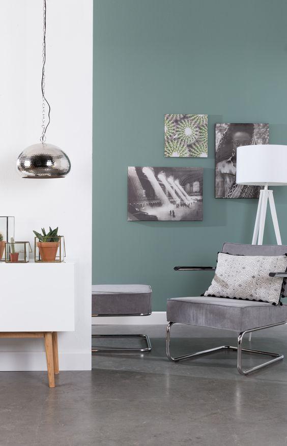 17 beste idee n over blauw geel grijs op pinterest kleur pallets kleurencombinaties en - Lounge grijs en paars ...