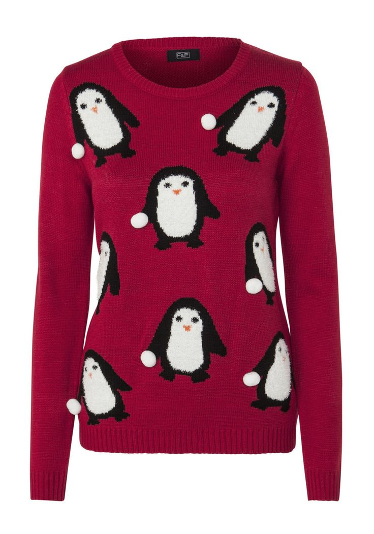 Clothing At Tesco F Amp F Penguin Snowball Bobble Christmas