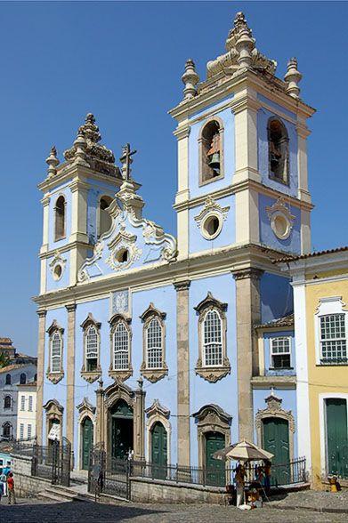 Brasil...  Igreja Nossa Senhora dos Rosários dos Pretos, Pelourinho, Salvador, Bahia.