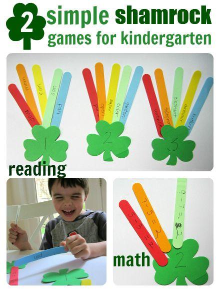 2 quick learning activities for preschool/ kindergarten with a St. Patrick's Day theme. #ECE #Kindergarten