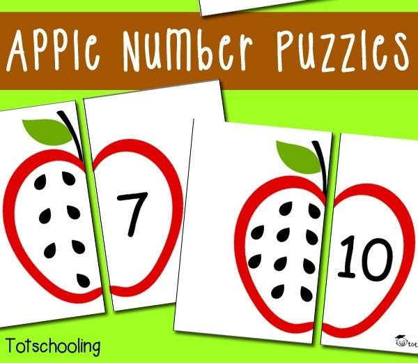 Free Apple Number Puzzles | Apple activities, Science ...