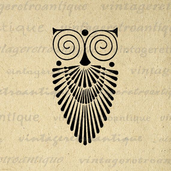 art deco owl - Google Search