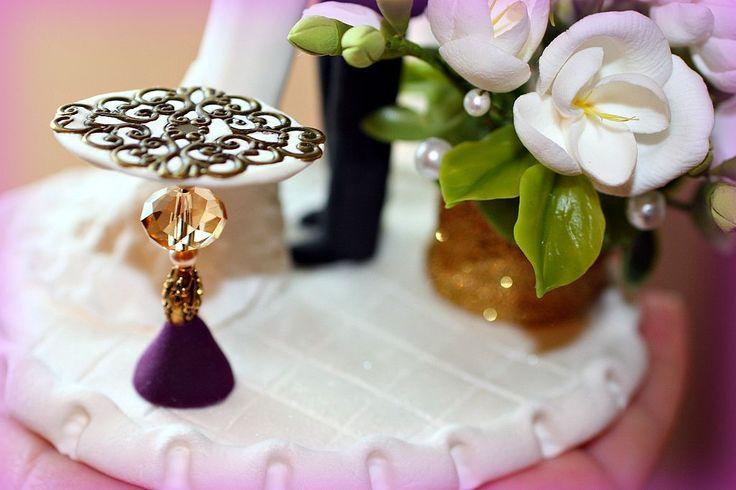 Купить Фигурки на свадебный торт - свадьба, фигурки на торт, свадебный торт, корсет на заказ