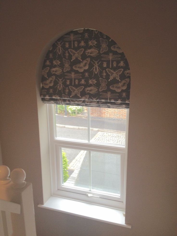 Shaped Roman For An Arched Window By Sam Kelly Made To