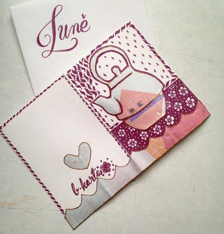 #custommade #wishingcard #teamotives #handwork Další přáníčko pro odcházející kolegyni 💕🌸#klubkotvori