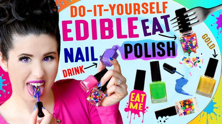 DIY EDIBLE Nail Polish | Eat Nail Polish | Drink NAIL Paint! Watch it here: https://youtu.be/Zpjc6e6sG20