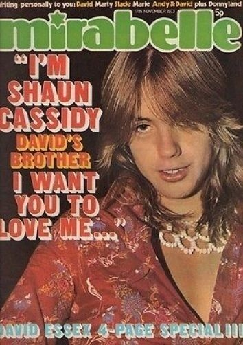 Shaun Cassidy on Mirabelle Magazine Cover 17 November 1973   Brian Connolly