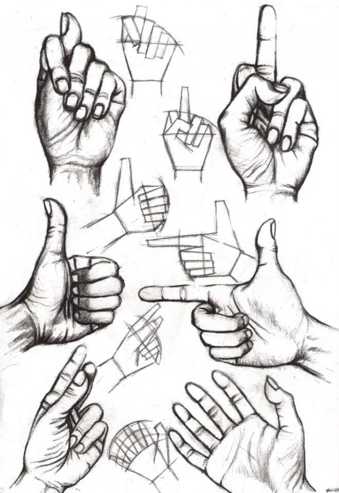 Hände zeichnen hands drawing Más