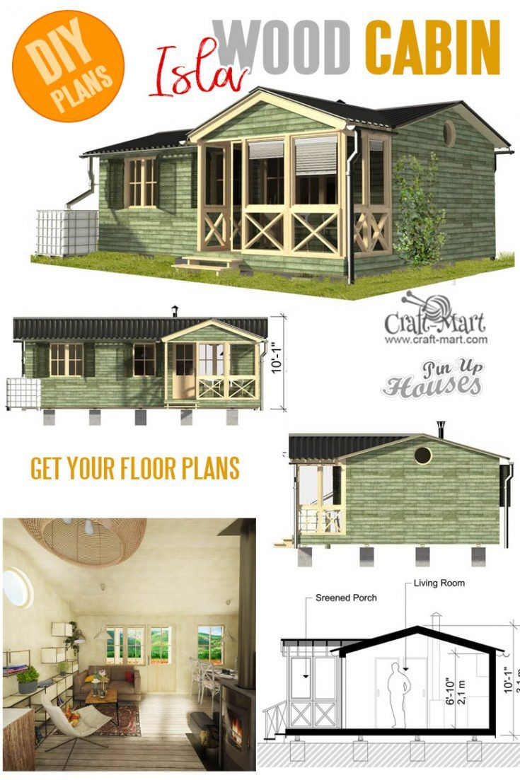 Cabin With Screened Porch Plans Tiny House Plans Porch Plans Small Cabin Plans