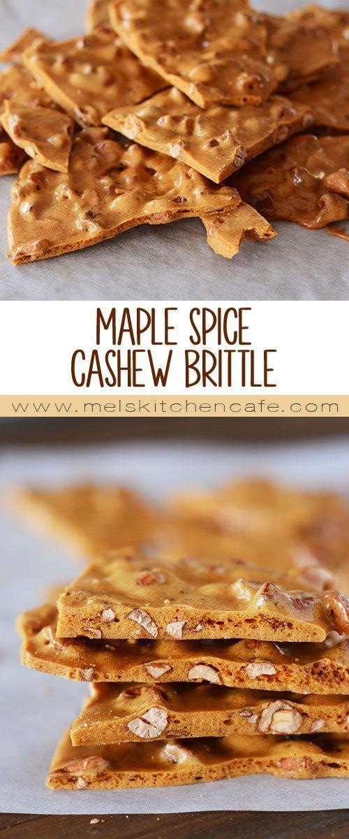 Maple-Spice Cashew Brittle {Super Easy Microwave Version} | Mel's Kitchen Cafe