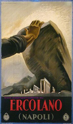 Dudovich Ercolano Napoli Herculanum Imp Enit #TuscanyAgriturismoGiratola: