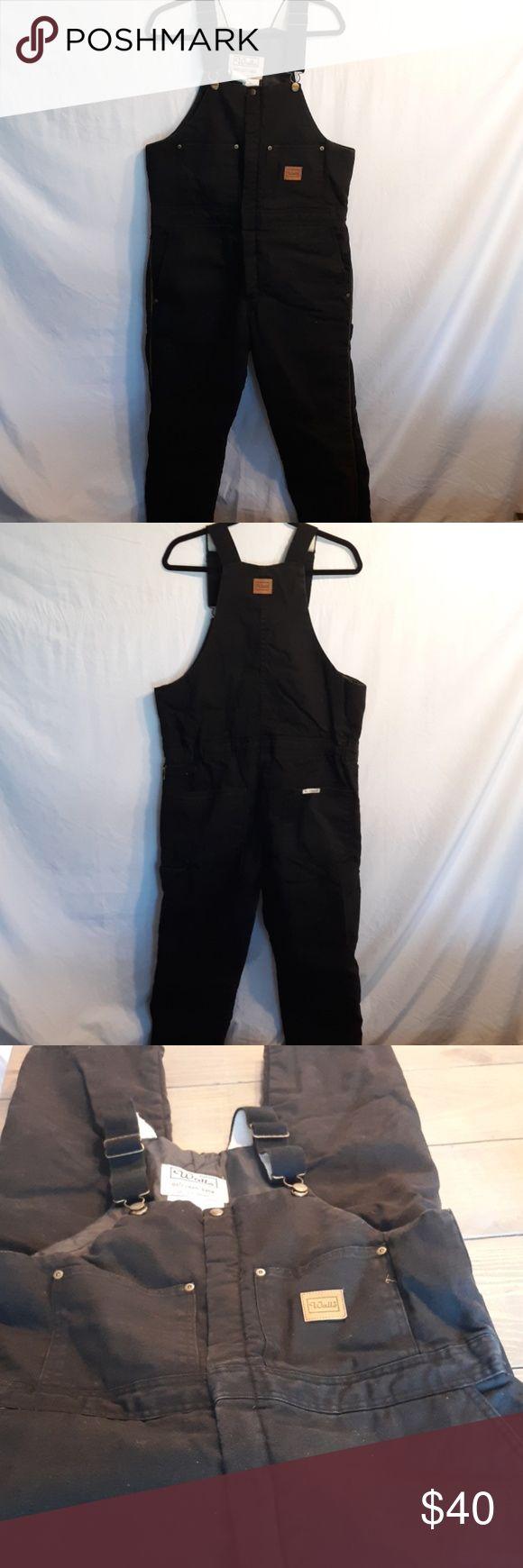 walls bib overalls mens 34 36 waist med regular bib on wall insulated coveralls for men id=71508