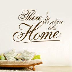 There's no place like home!  There's no place like home! Passa på och fynda ett snyggt väggdekor och ge väggarna ett helt nytt lyster!  Länk till produkt: http://www.feelhome.se/produkt/theres-no-place-like-home/  #Homedecoration #art #interior #design #Walldecor #väggdekor #interiordesign #Vardagsrum #Kontor #Modernt #vägg #inredning #inredningstips #heminredning #citat #hem #motivation #kärlek