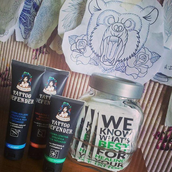 Non vuoi che i tuoi tatuaggi si sbiadiscano??? Guarda le nostre creme per la cura del tatuaggio http://www.tattoodefender.com/prodotti/