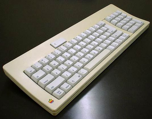 The old Apple keyboard (macworld, 2015)